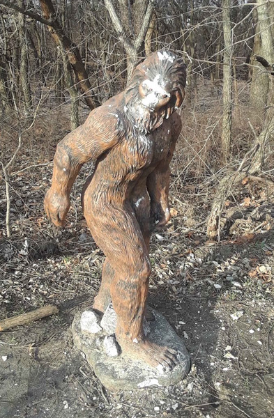 Ark Valley News Vandals Damage Unique Statue